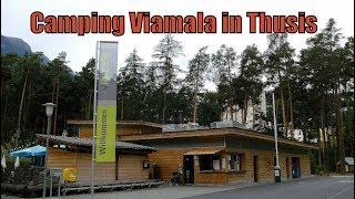Wohnmobil : Auf dem Camping Viamala in Thusis ( Schweiz )