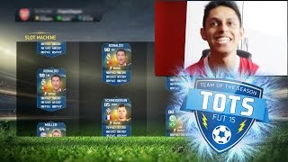 FIFA SLOT MACHINE - DISCARDING TOTS RONALDO? - FIFA 15 Ultimate Team