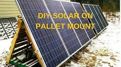 DIY Solar Panel Mounting on Pallets, : Part 2