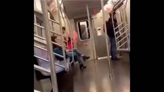 Subway Scaries: Man twirls in tutu on the subway!!! | Must see!!!