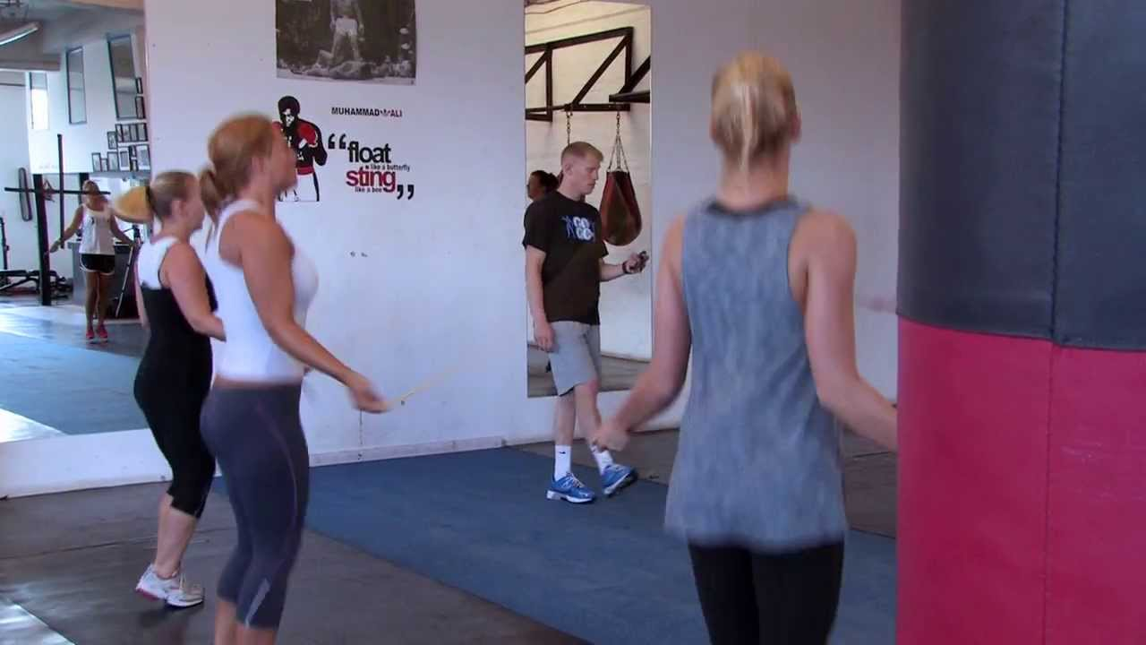 Ladies bootcamp class go fit go box gym youtube