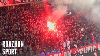 Le Roazhon Celtic Kop (RCK) et le Red Black Roazhon (RBR) - Stade Rennais - OGC Nice