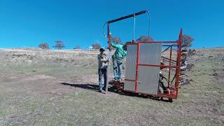 Feral Fencing | Mini Dingo Fencing Machine In Action-Hilly Country
