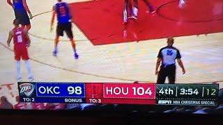 LIVE! OKC Thunder Vs Houston Rockets Crunchtime Play By Play Analysis M