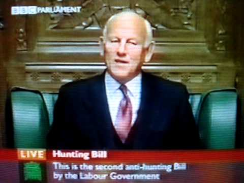 House of Commons, Sir Michael Lord, Hunting Bill