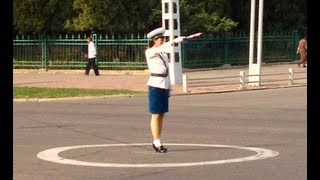 Traffic Lady in Pyongyang
