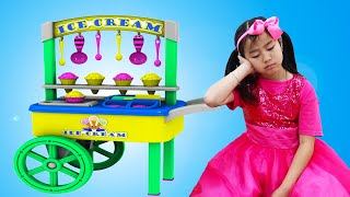 Emma And Jannie Pretend Play With Ice Cream Cart Food Toys