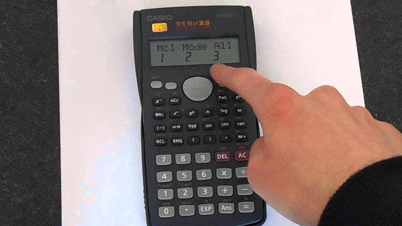 How to Reset A Casio fx-82MS Scientific Calculator - YouTube