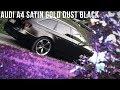 I.M Foliendesign - Audi A4 Satin Gold Dust Black | CAR PORN