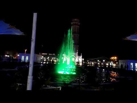 Wisata Religi Pesona Plaza Mesjid Raya Baiturrahman Banda Aceh di malam hari