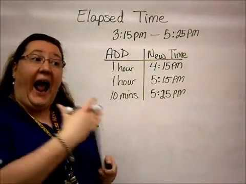 Elapsed time using  charts also youtube rh