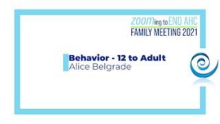 Family Meeting 2021 Behavior i…