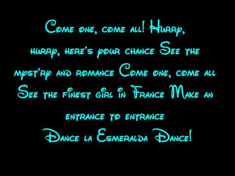 Topsy Turvy - The Hunchback Of Notre Dame Lyrics HD