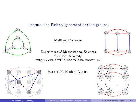 Visual Group Theory, Lecture 4.4: Finitely generated abelian groups