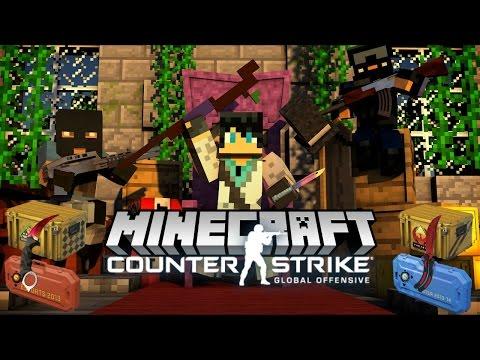 Minecraft ОБЗОР МОДА! КОНТРА С КЕЙСАМИ В МАЙНКРАФТЕ (Minecraft CS:GO) - Видео из Майнкрафт (Minecraft)