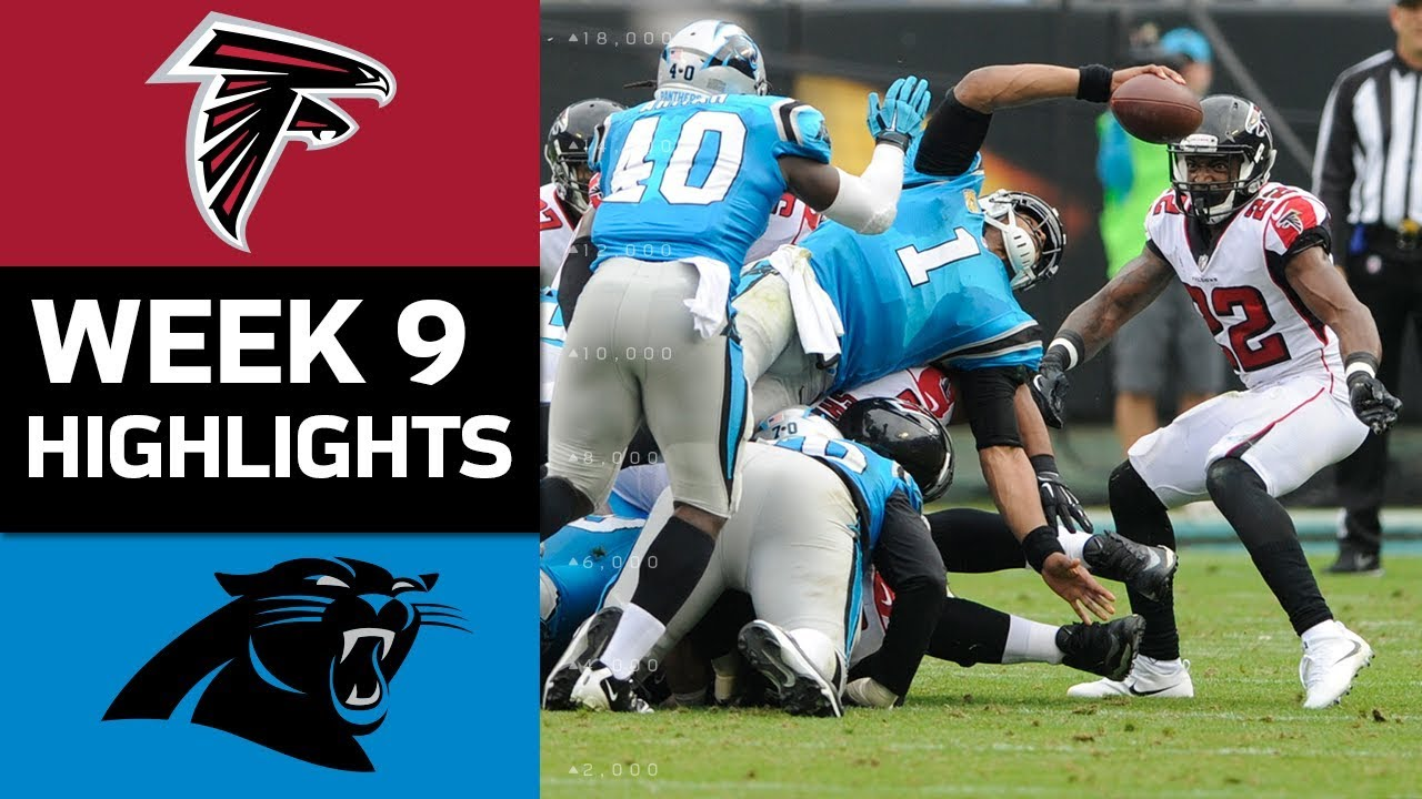 falcons vs panthers nfl week 9 game highlights youtube