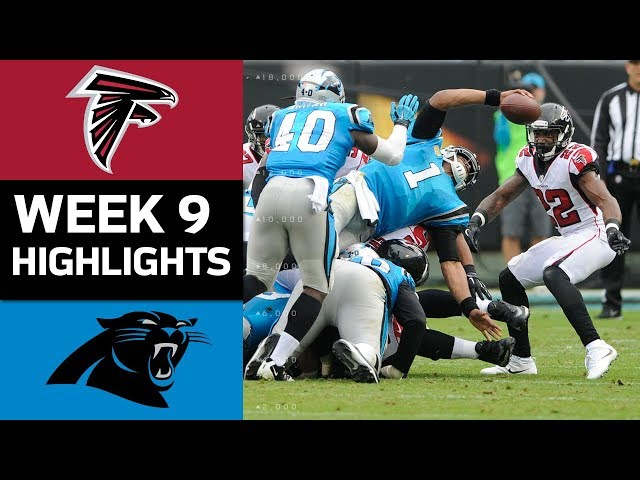Falcons vs. Panthers | NFL Week 9 Game Highlights