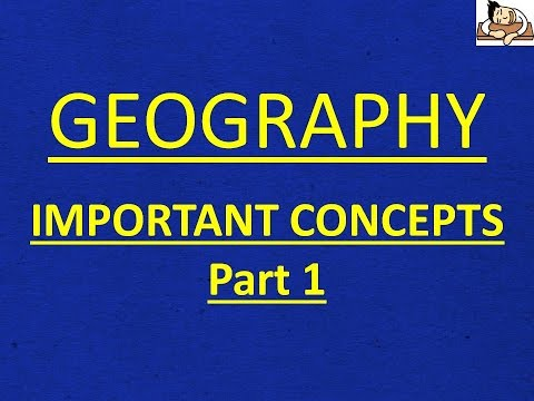 Geography for UPSC/IAS - 25 Important Concepts (Part 1) - English