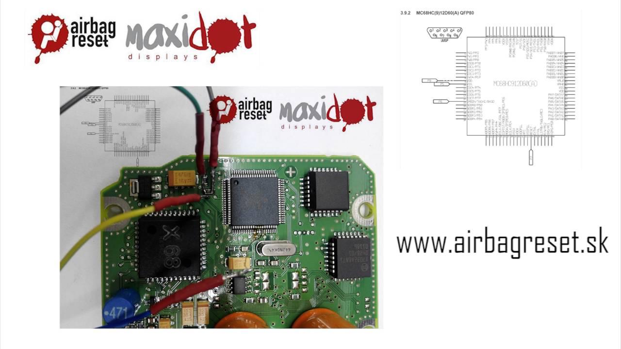 Renault Clio  8200375763 Bosch 0285001537  68HC912D60 Airbag control unit  YouTube