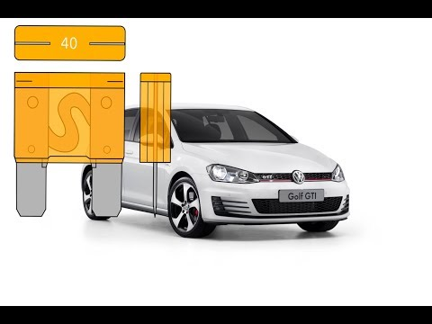 FUSE BOX LOCATION ON A 2009 - 2013 VOLKSWAGEN GOLF