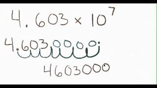 How to Go From Scientific Notation to Standard Form