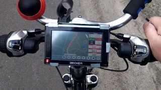 видео GPS навигатор для велосипеда