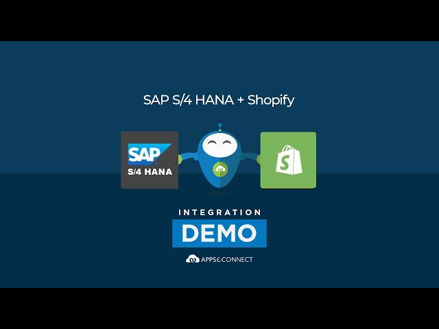 Integrate SAP S/4 HANA and Shopify | Inventory Sync |  APPSeCONNECT