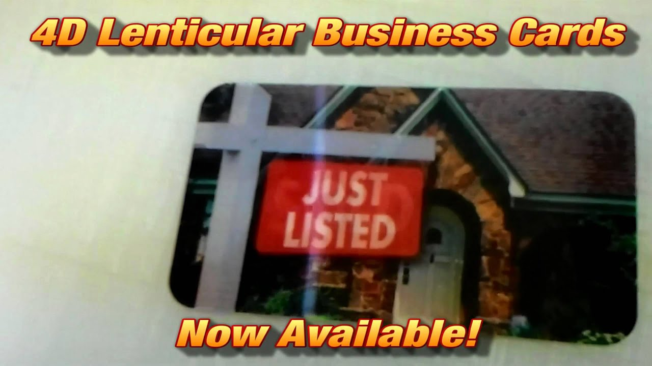 4D Lenticular Business Cards Now Available! - YouTube