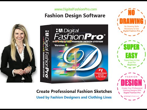 Digital Fashion Pro Fashion Design Software Presentation Youtube
