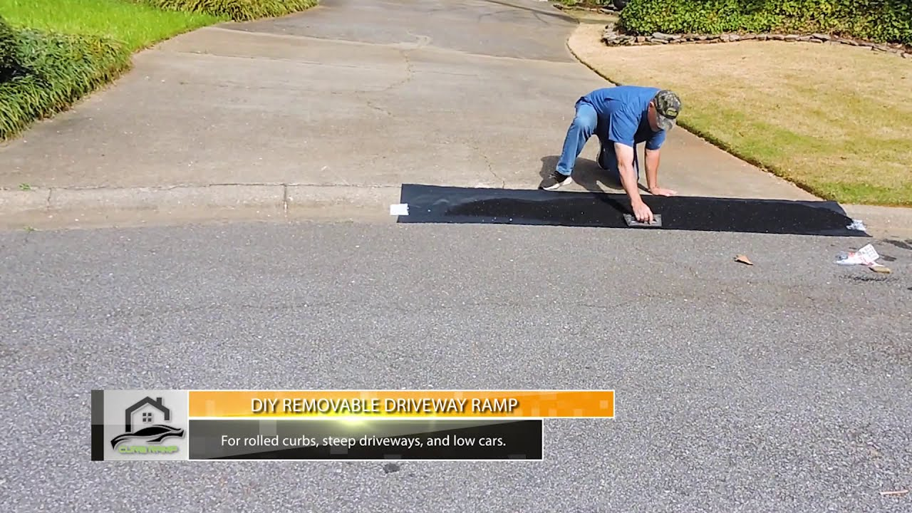 DIY Curb Ramp - How To Make A Removable Driveway Ramp For Lowered Cars