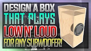 How to Design a Subwoofer Box that plays SUPER LOW!   Full Guide screenshot 3