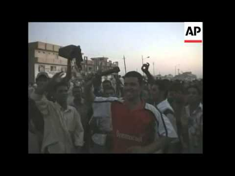 Aftermath of violence in Baghdad neighbourhood