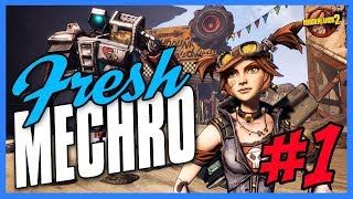 Borderlands 2 | Mechromancer Playthrough Funny Moments & Legendary Loot - Day #1