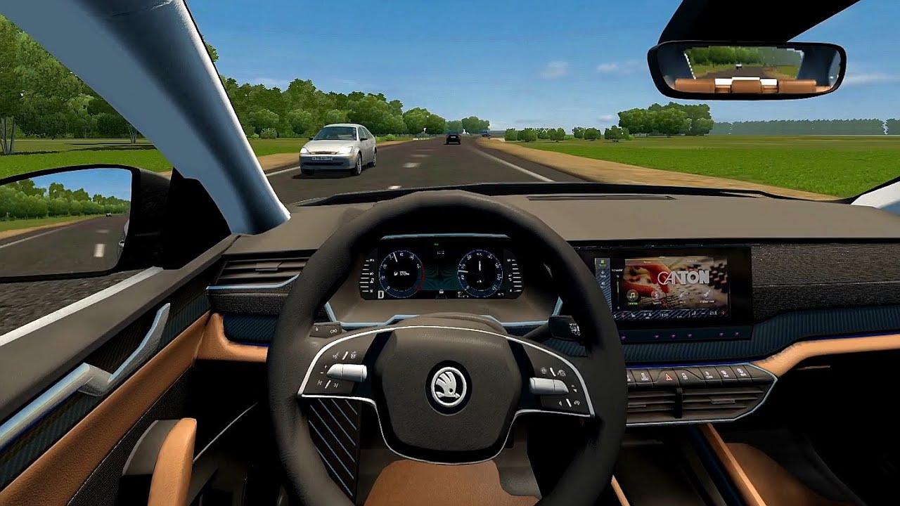 2020 Skoda Octavia - City Car Driving | Racing wheel gameplay