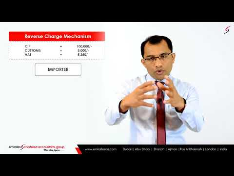 Reverse Charge Mechanism VAT  VAT in UAE  Emiratesca CEO, CA Manu Nair