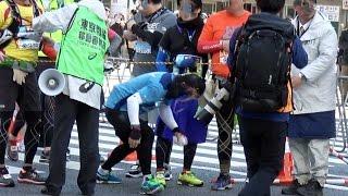 移動審判員が唖然「ルール破った瞬間映像」東京マラソン2017(2017.2.26) thumbnail