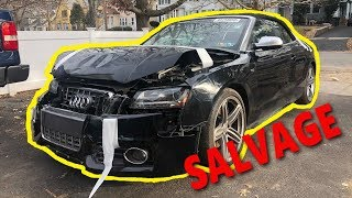 Rebuilding A Wrecked Copart Audi S5 from Auto Auction! samcrac goonzquad