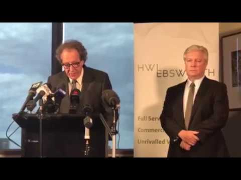 Geoffrey Rush Press Conference: Actor Sues Australia's Daily Telegraph