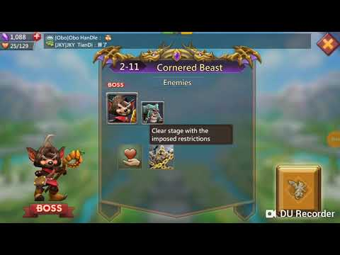 Lord Mobile Challenge 2-11
