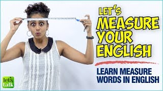 🔴English Speaking Lesson - Learn Measure Words | Improve Your English Vocabulary | Speak Fluently
