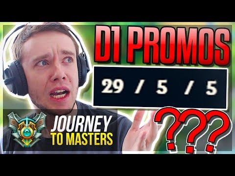 D1 PROMOS FINALLY! BBUUUUUUTTTTTTT.. - Journey To Masters | League of Legends
