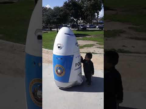 Robot Police Is  Here In Huntington Park Crazy