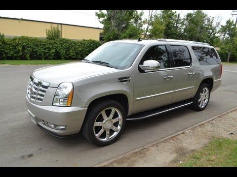 Sold 2008 Cadillac Escalade Esv S U V Lt Pewter With Black Interior