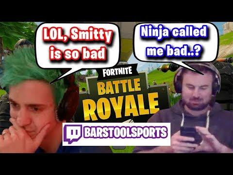 "Ninja Calls Smitty ""Bad, So Bad"" Yet Still Refuses To Battle Him In Fortnite"