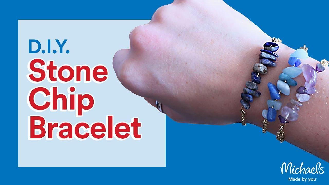 Diy Stone Chip Bracelet Michaels
