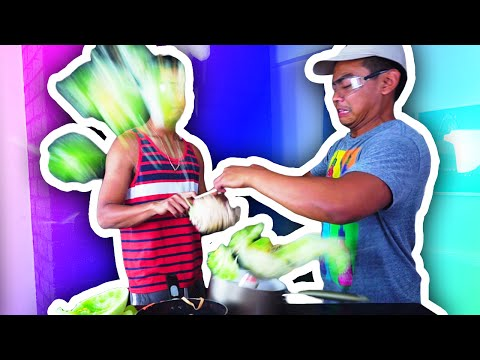 EXPLODING MELON RACE + TICKLE CHALLENGE!