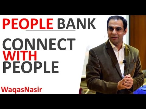 People Bank: The Secret to Connecting With People -By Qasim Ali Shah   In Urdu