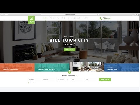 34. Create A Property Listing Website - Changing Template Header Position