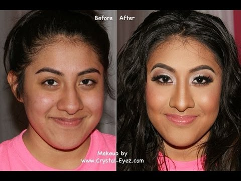 Before After Makeover Prom Makeup