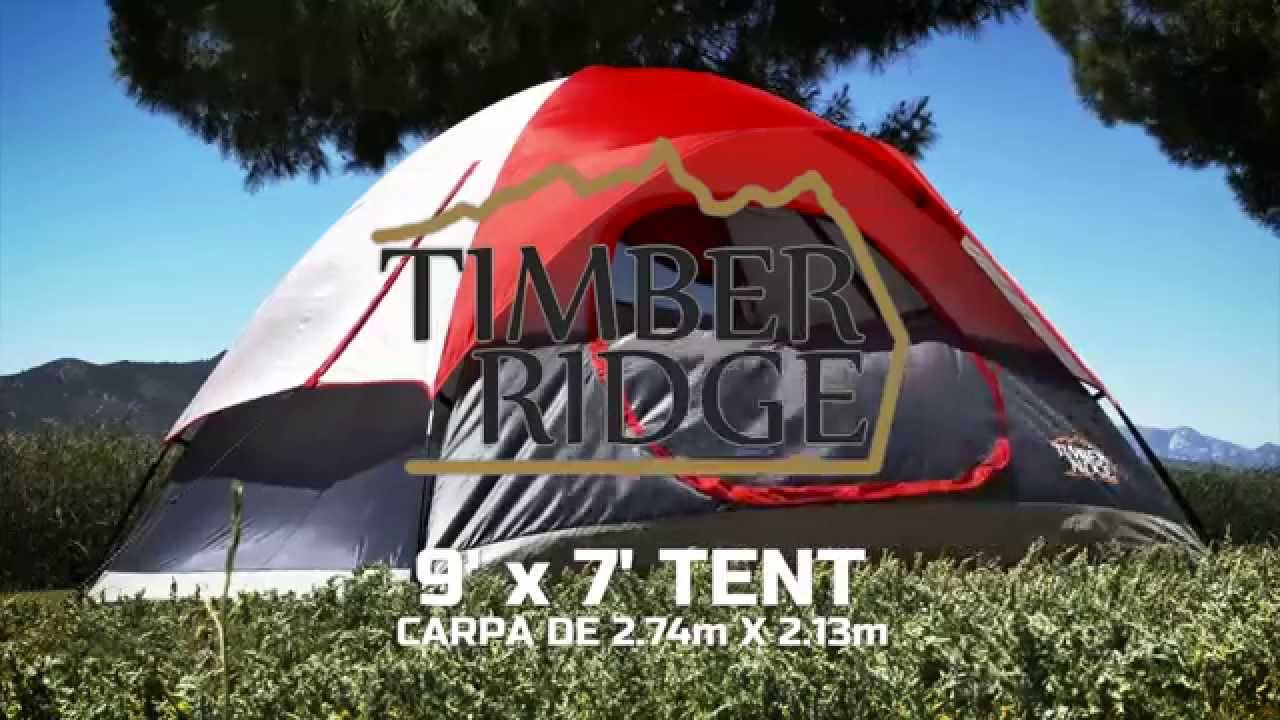 Timber Ridge Tents 9u0027 x 7u0027 Dome Tent Setup & Timber Ridge Tents 9u0027 x 7u0027 Dome Tent Setup - YouTube